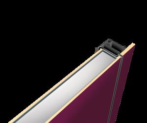 Sleek purple door picture